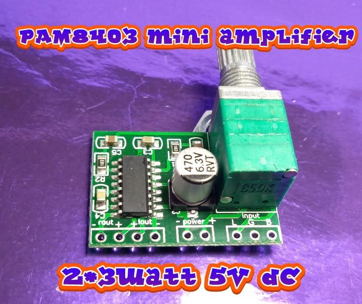 modul PAM8403 kit mini amplifier stereo hifi Audio class D | Aseven